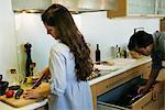 Couple de préparation des aliments