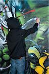 Garçon Spray peinture Graffiti
