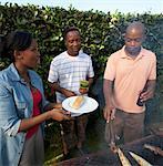 Les amis se sont réunis autour de braai, Johannesburg, Afrique du Sud