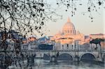Basilique St Pierre et du Ponte Sant Angelo, Rome, Italie