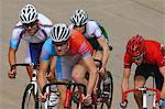 Coureurs de vélo de course