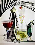 assortiment de cocktails