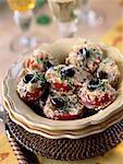Mini tomates farcies aux anchois et pommes de terre rösti