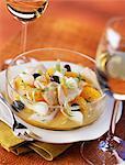 Mérou grillé et salade d'orange
