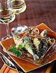 Sardines marinées épicés, douces et aigres