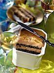 Foie gras maison et terrine de lentilles