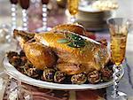 Christmas eve poulard hen with stuffed figs