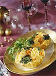 Tartlettes brocoli, chou-fleur et la carotte