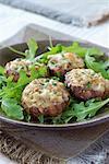 Mushrooms stuffed with Gorgonzola