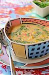Soupe au maïs et poivron