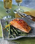 pavé de saumon aux asperges