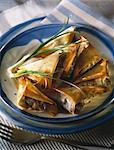 Sardines in oil filo pastry pies