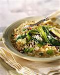 Poireaux et risotto de Pecorino