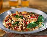 Chicken,tomato and basil risotto