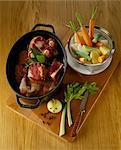 Cuisson de la viande dans un plat allant au four