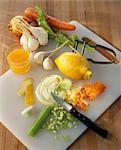 Peler et hacher les légumes