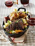 Pot-au-feu with two meats
