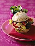 Tuna and Piperade sandwich