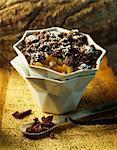 Fruits et chocolat topping crumble