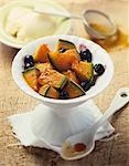 Salade de fruits de cassis et de melon