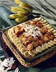 Banane und Kokosnuss-Torte