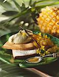 Tartelette de sablés d'ananas Victoria compote