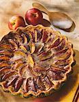 Tarte nectarine et épices