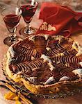 Pear and Madiran wine tart