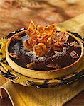 Chocolate tart with coffee nougatine