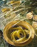 Cream of leek soup with caviar