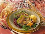 Boeuf, foie gras et terrine de légume