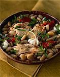 Salade de haricots blanc et skate