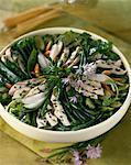 Green bean and chicken salad