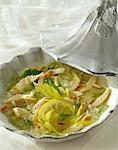 Soupe de poulet, le céleri et riz