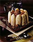 Chocolate and walnut Charlotte