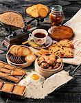 Auswahl an Gebäck und Kekse