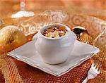 Petit dessert crème et aux amandes