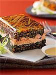 Green lentil and salmon terrine