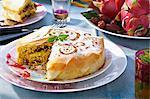 Turkey,date and pistachio Pastilla