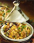 Chicken ,lemon and olive Tajine