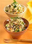 Orientalische Soja-Bohnensalat