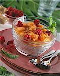 Compotes abricots aux framboises