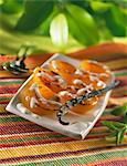 Abricot rôti parfumé à la vanille