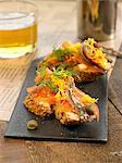 Geräucherter Fisch und Dill Belegtes Brot