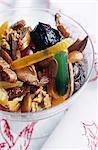 Salade de fruits confits et séchés