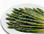 Plaque d'asperges vertes cuites