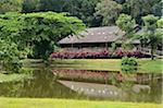 Maison traditionnelle, Sarawak Cultural Village, Sarawak, Bornéo, Malaisie
