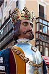 Défilé de géants et grosses têtes, Fiesta de San Fermin, Pampelune, Navarre, Espagne