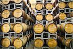 Australia, Western Australia, Margaret River.  Wine barrels at the Fraser Gallop Estate winery.