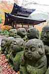 Asie, Japon. Kyoto, Sagano, Arashiyama, Otagi Nenbutsu dera temple, Pierre images